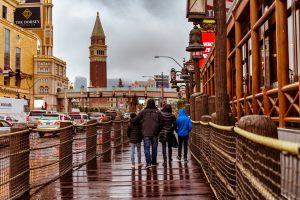 raining, family, scenery